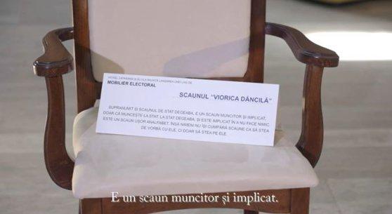 Imaginea articolului Cataramă lansează mobilier pentru prezidenţiale: Salteaua Iohannis, scaunul Dăncilă sau noptiera Cumpănaşu | VIDEO