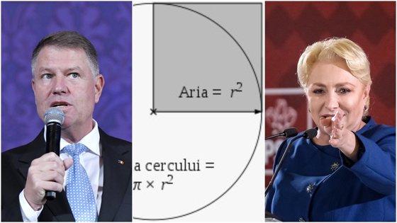 """Imaginea articolului """"Care este aria cercului"""". Dăncilă, care a dat meditaţii la matematică, a răspuns greşit. Iohannis, care a meditat la fizică, a tăcut"""