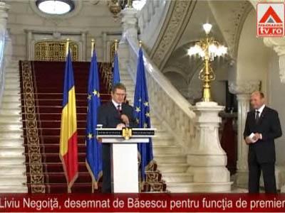 Liviu Negoiţă, desemnat de Băsescu pentru funcţia de premier