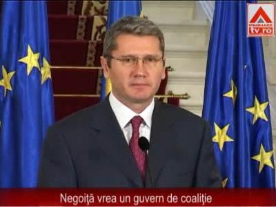 Negoiţă: Doresc guvern de coaliţie, azi încep negocierile