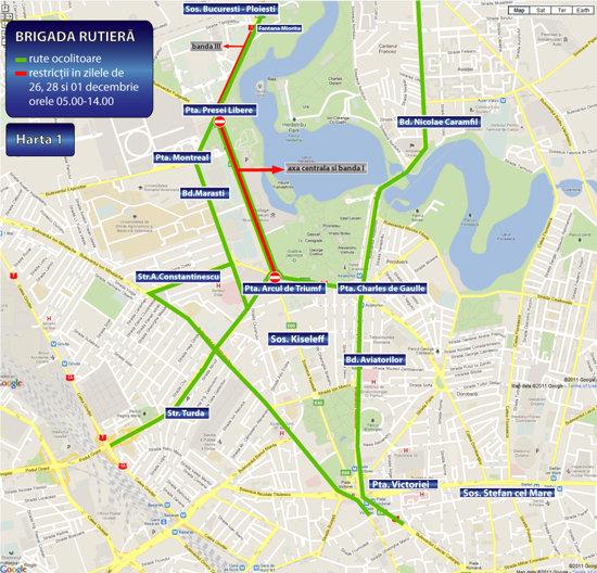 Parada Militară De 1 Decembrie Inchide Traficul Rutier Harta