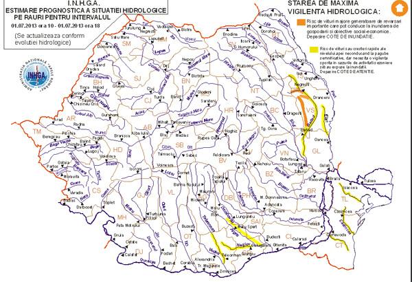 Cod Portocaliu Si Galben De Inundaţii Harta Zonelor Afectate
