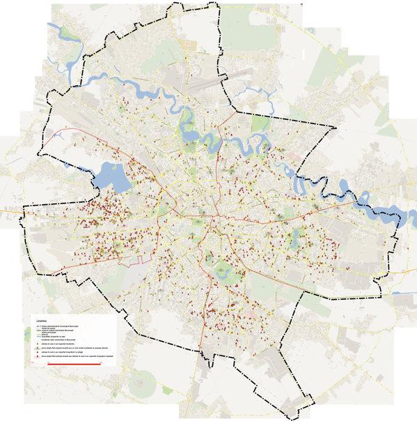 Harta Agresiunilor Cainilor In Bucuresti Peste 1 100 De Oameni