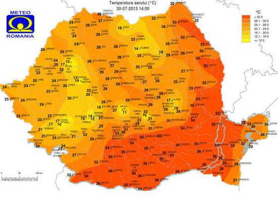 Caniculă In Romania Harta Temperaturilor Si Indicii De Confort