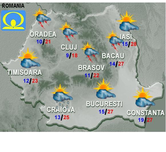 Vremea Va Fi In General Instabilă Prognoza Meteo Pentru Weekend