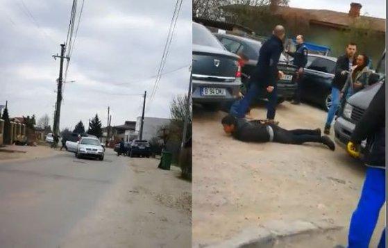 Imaginea articolului SCANDALUL de stradă din Bolintin Vale: Şase reţinuţi după ce două familii rivale s-au bătut cu bâte şi un topor | VIDEO