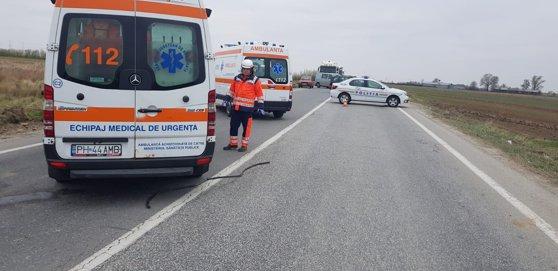 Imaginea articolului Accident în Braşov: Patru persoane, printre care doi copii, transportate la spital