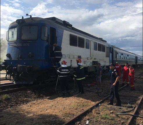 Imaginea articolului Incendiu la locomotiva unui tren de persoane