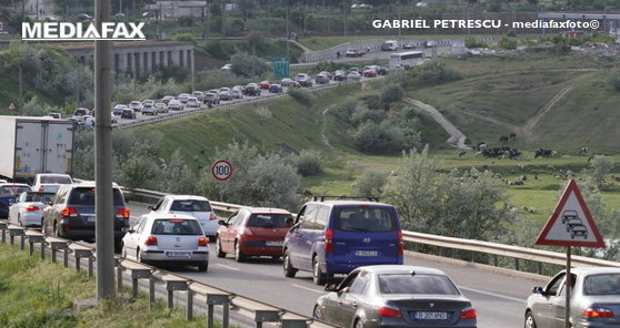 Imaginea articolului Infotrafic: Circulaţie îngreunată pe A2 Bucureşti-Constanţa, pe sensul spre Capitală