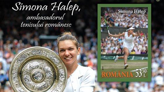 Imaginea articolului Timbru poştal dedicat Simonei Halep: Gestul făcut de Ministerul Comunicaţiilor, după reuşita de la Wimbledon 2019