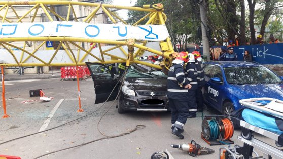 Imaginea articolului Poliţia Capitalei a deschis un dosar penal după accidentul cu macaraua din centrul Bucureştiului