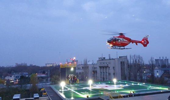 Imaginea articolului FOTO | A fost efectuat primul zbor pe heliportul Spitalului Universitar Bucureşti