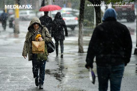 Imaginea articolului Prognoza meteo de 1 Decembrie. Lapoviţă în Bucureşti