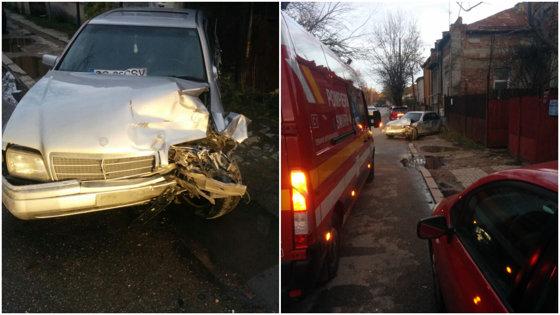 Imaginea articolului Un adolescent fără permis a provocat un accident rutier chiar lângă sediului Poliţiei Rutiere Craiova