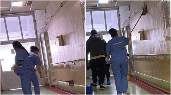 """Imaginea articolului Imagini şocante la """"Bagdasar-Arseni"""": Pereţi spălaţi cu mopurile folosite pentru a curăţa pe jos / Reacţia Spitalului - FOTO şi VIDEO"""
