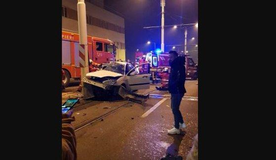 Imaginea articolului Accident în Craiova. Trei persoane au fost rănite, una este în stare gravă. FOTO