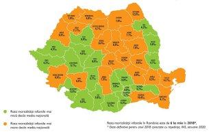 Harta Mortalităţii Infantile Tulcea Botosani Si Sălaj Judeţele