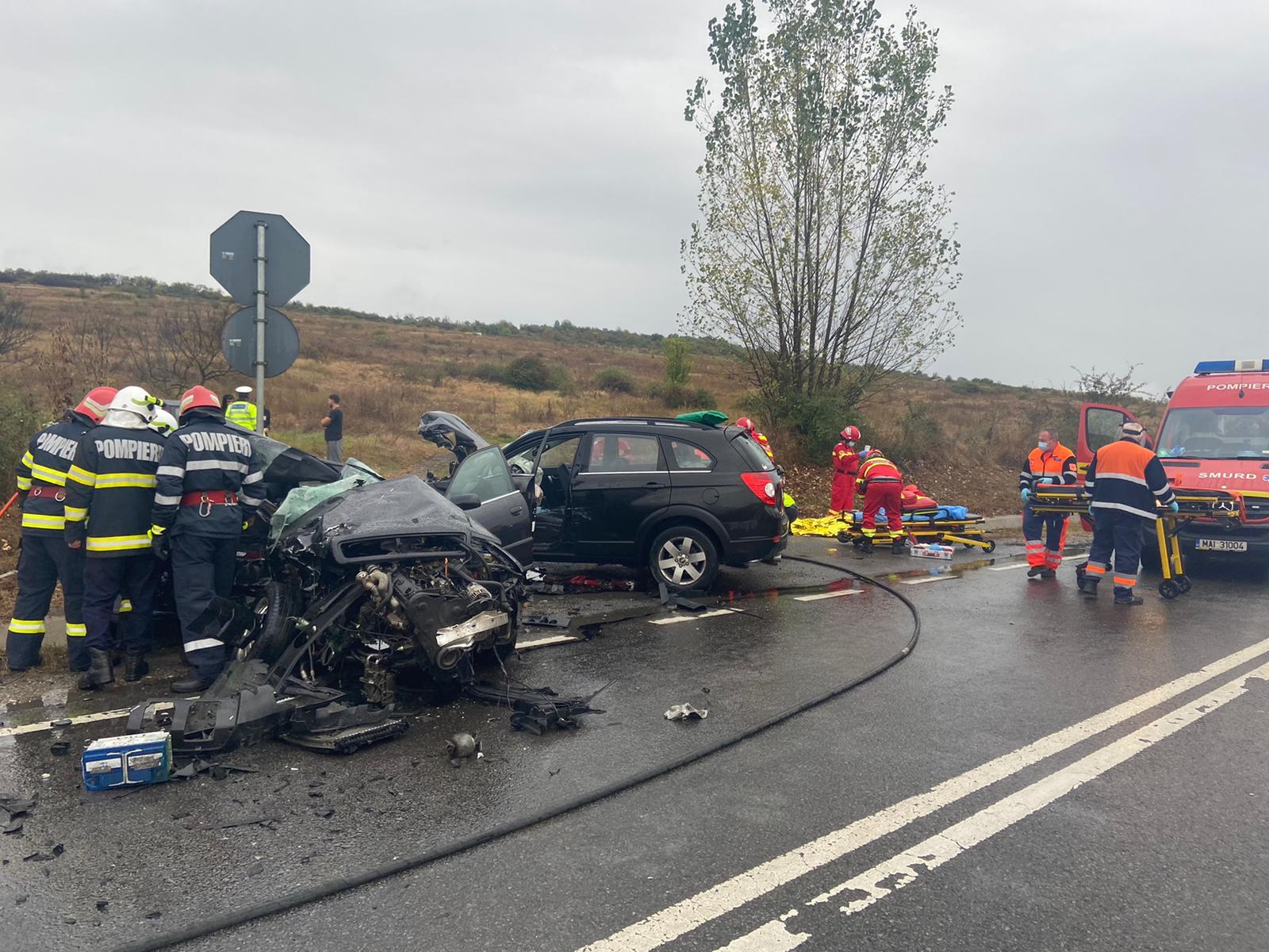 Accident auto în Sălaj: O persoană a decedat, iar alte cinci sunt rănite