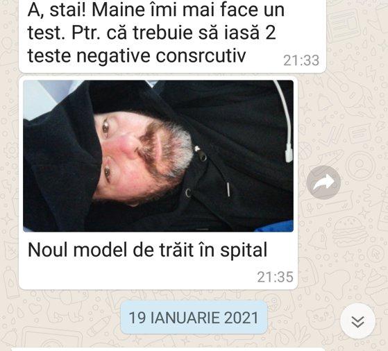 Imaginea articolului Marius Oprea: În spital era foarte frig/ Istoricul publică fotografia unui prieten internat în vecinătatea salonului de la Matei Balş care a ars