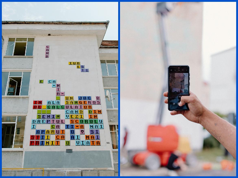 Prima poezie murală animată din România se află la Sibiu. Privitorii pot interacţiona