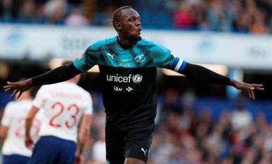 Imaginea articolului Meci caritabil: Multiplul campion olimpic Usain Bolt a participat alături de alte vedete la un eveniment organizat de UNICEF | FOTO, VIDEO