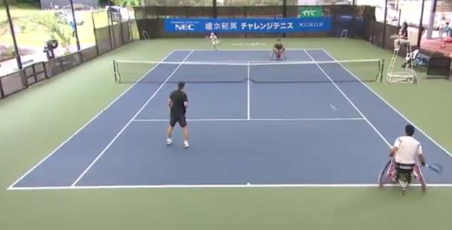 Clipul zilei vine din Japonia de la un meci de tenis în scaun cu rotile/ Formatul inovator a oferit momente spectaculoase VIDEO
