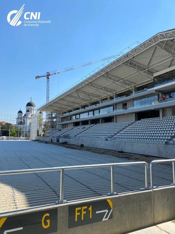 Imaginea articolului Noi imagini cu stadioanele Giuleşti şi Arcul de Triumf. În Ghencea se montează gazonul