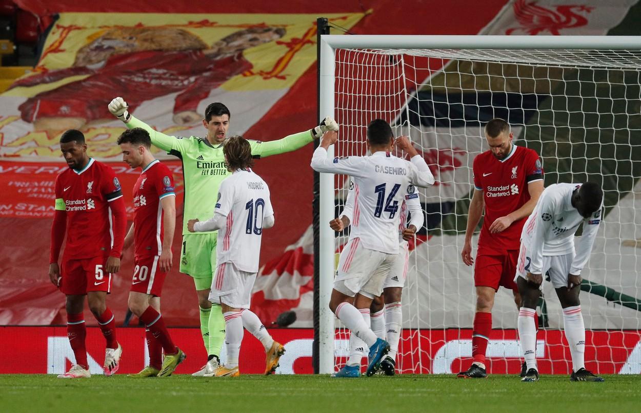 Liverpool - Thibaut Courtois 0-0. Real Madrid se califică în semifinala Ligii Campionilor