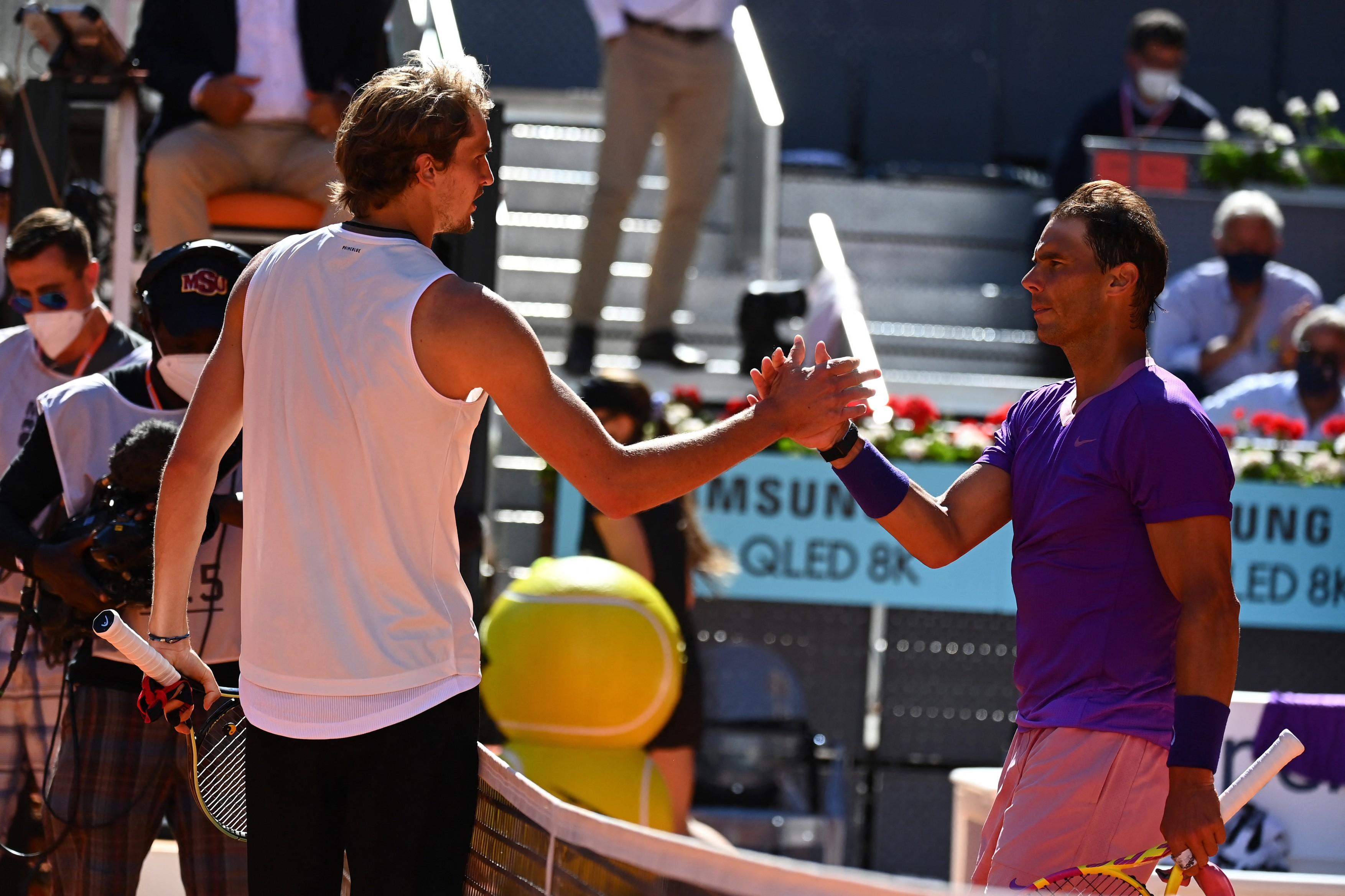 Alexander Zverev l-a eliminat pe Rafael Nadal de la Madrid Open