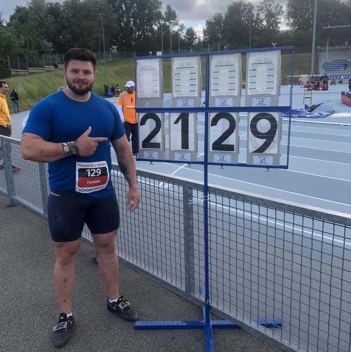 Aruncătorul dinamovist Rareş Toader s-a calificat la Jocurile Olimpice cu un nou record naţional