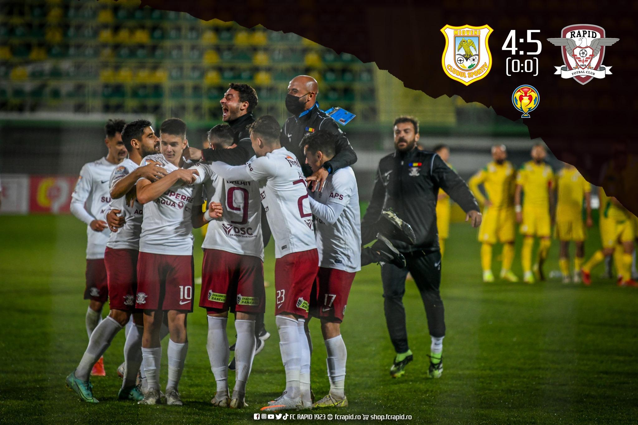 Rapid merge mai departe în Cupa României la fotbal