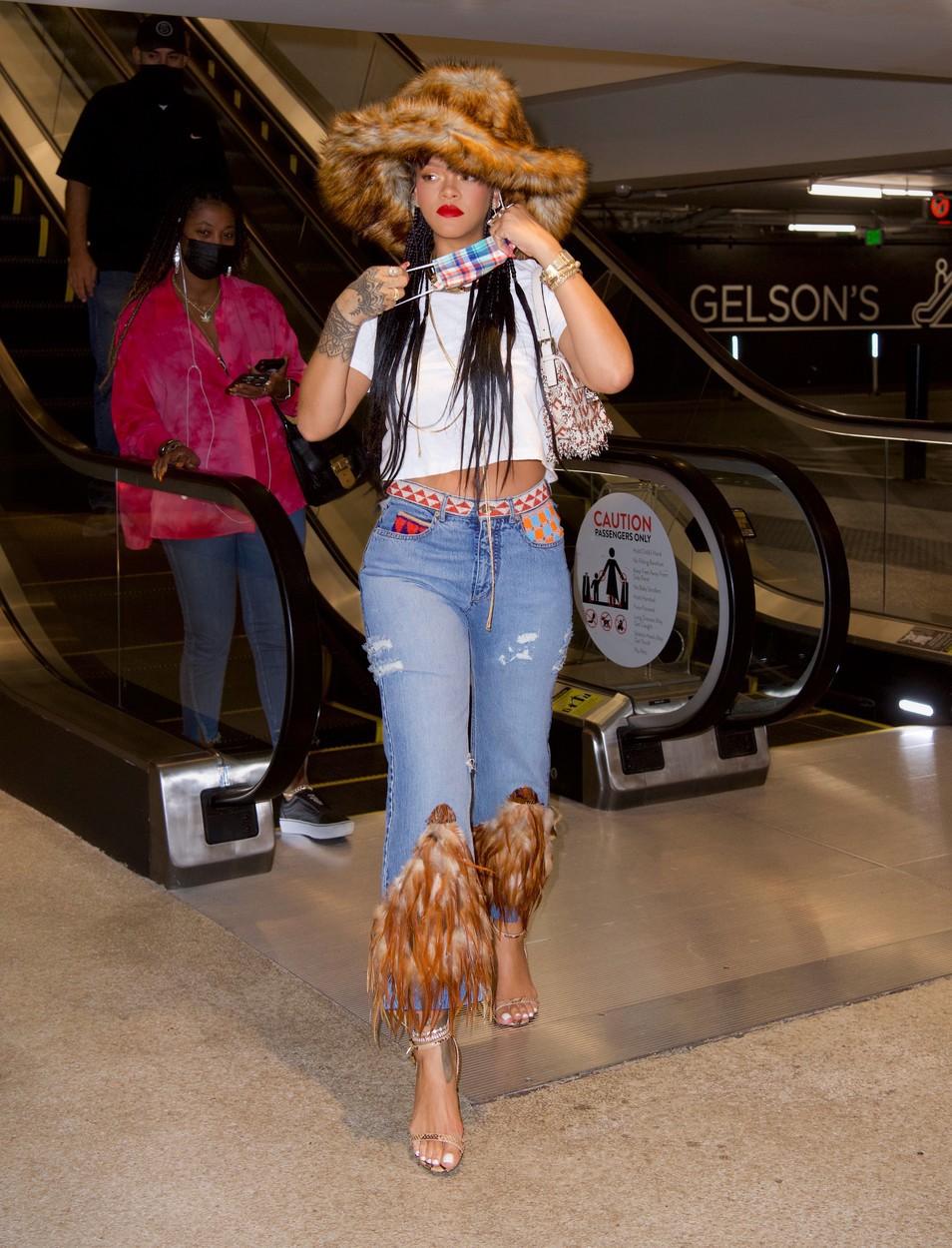 Rihanna a participat la protestele din SUA