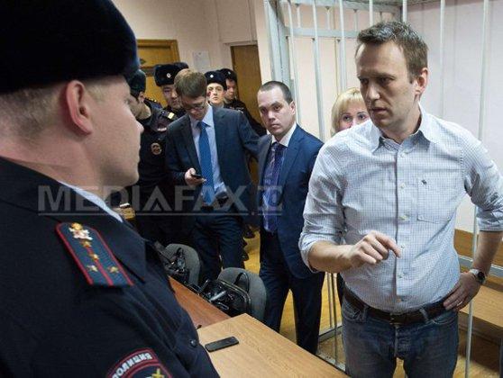Imaginea articolului Liderul opozţiei ruse, Alexei Navalnîi, a fost condamnat la 30 de zile de închisoare