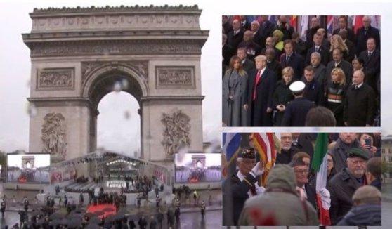 Imaginea articolului LIVE VIDEO | Centenarul sfârşitului Primul Război Mondial: Lideri din toată lumea, la Paris pentru celebrarea celor 100 de ani de la Marele Armistiţiu