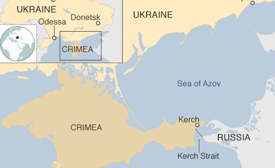 Imaginea articolului Conflictul ruso-ucrainean. Autorităţile ruse au făcut PUBLICE înregistrări video cu mărturiile a trei marinari ucraineni reţinuţi în Strâmtoarea Kerci