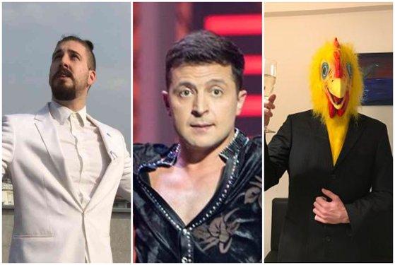 """Imaginea articolului Vladimir Zelenski, comediantul intrat în turul al doilea în alegerile din UCRAINA şi acuzat că ar fi """"marioneta"""" unui oligarh. NU este singurul candidat care şi-a construit """"norocul politic"""" pe umor"""