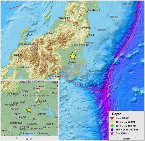 Imaginea articolului Un cutremur cu  magnitudinea de 5,5 grade pe scara Richter s-a produs în estul Japoniei