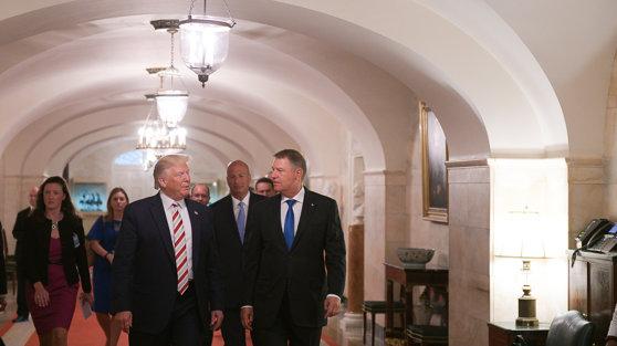 Imaginea articolului Preşedinţii Klaus Iohannis şi Donald Trump au adoptat o declaraţie privind întărirea relaţiilor România - SUA