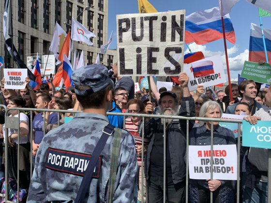 Imaginea articolului Miting masiv al opoziţiei la Moscova pentru eliberarea protestatarilor închişi
