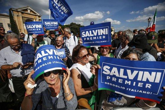 VIDEO   Protest la Roma. Mii de italieni de orientare extremă dreapta şi-au manifestat sprijinul pentru Matteo Salvini