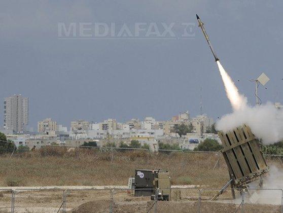 Imaginea articolului O locuinţă din Israel a fost lovită de o rachetă lansată din Fâşia Gaza/ Alte proiectile au fost interceptate de sistemul antirachetă Iron Dome