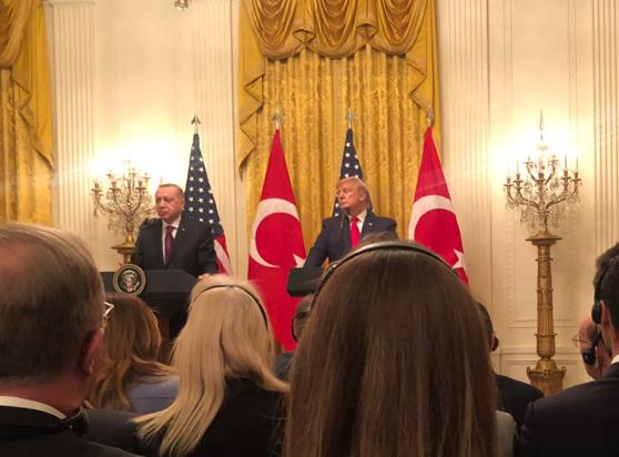 """Imaginea articolului Întrevederea """"minunată"""" Trump şi Erdogan nu a rezolvat nimic. Trump: """"Am vorbit despre asta azi, vom mai vorbi şi pe viitor"""""""