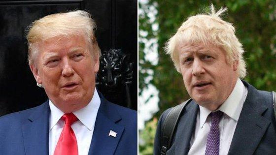 Imaginea articolului Boris Johnson îi recomandă lui Donald Trump să nu se implice în campania electorală din Marea Britanie
