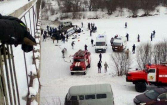 Imaginea articolului Accident teribil în Rusia. Cel puţin 15 morţi după ce un autobuz s-a prăbuşit într-un râu. VIDEO