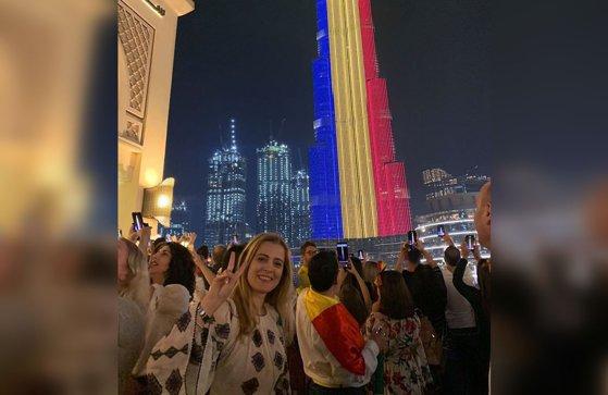 Imaginea articolului Burj al-Khalifa, cea mai înaltă clădire din lume, în lumini tricolore, de Ziua Naţională a României | VIDEO