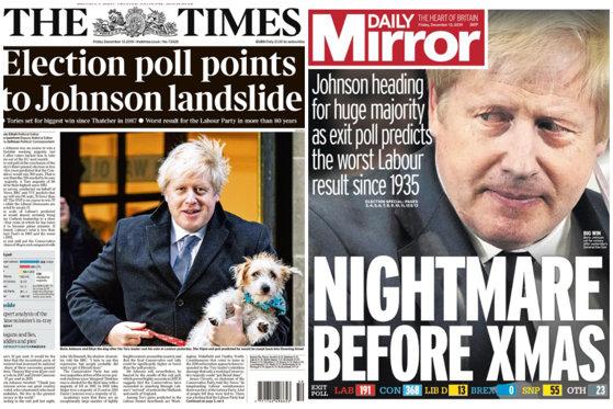 """Imaginea articolului De la """"colaps"""", la """"coşmar"""". Ce scrie presa britanică despre rezultatul alegerilor din Marea Britanie"""