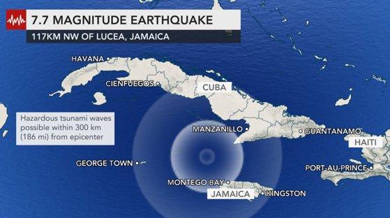 Cutremur puternic în Marea Caraibelor. A fost emisă alertă de tsunami