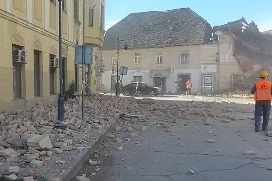 Imaginea articolului VIDEO Un cutremur puternic a lovit Croaţia. Seismul cu magnitudinea de 6,4 s-a simţit şi în Italia. UPDATE: Centrala nucleară din Slovenia a fost oprită