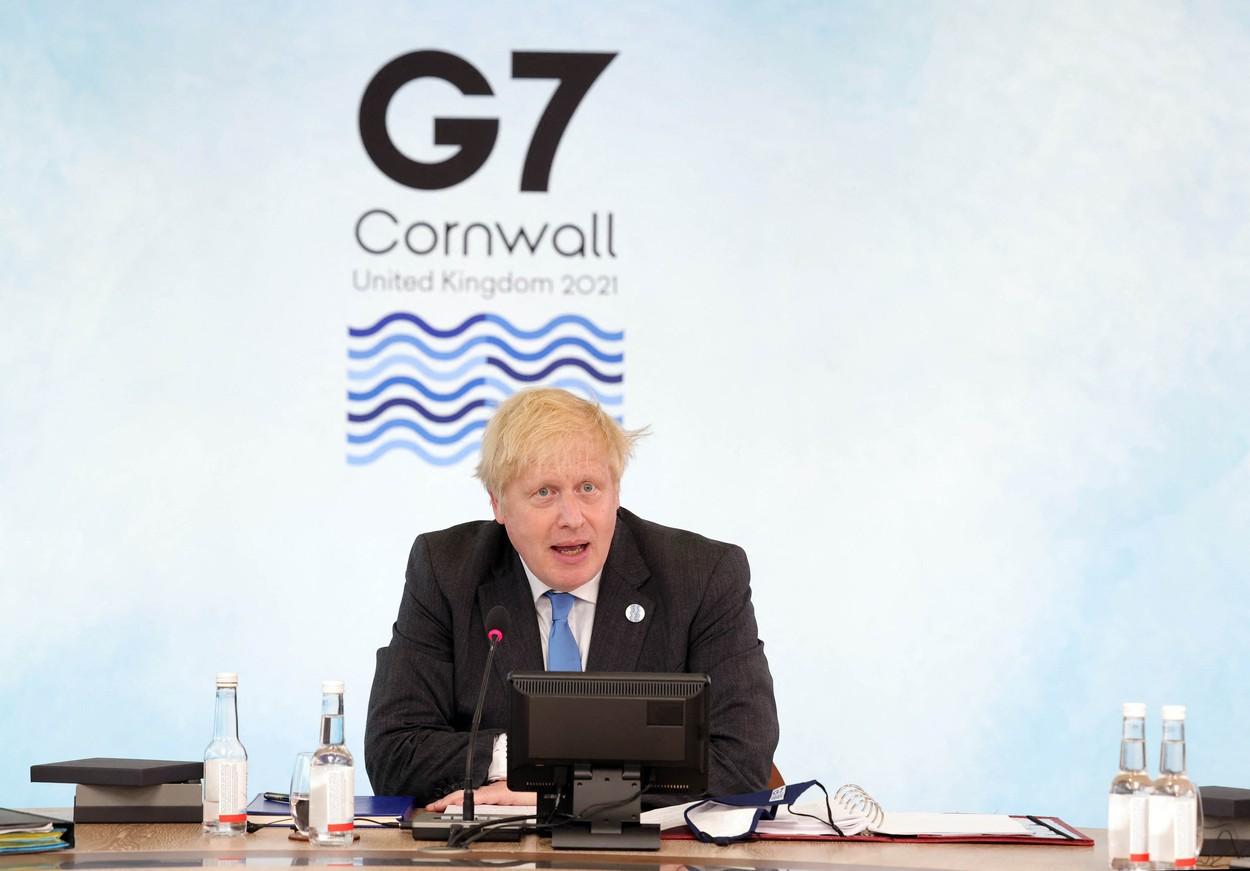 Boris Johnson cere, la summitul G7, corectarea politicilor sociale, pentru evitarea inegalităţilor