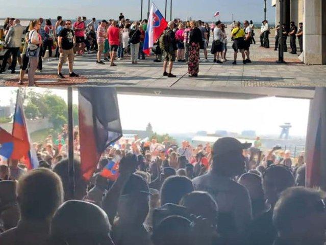 Trădare  Opriţi coronafascismul. Protestatarii nemulţumiţi de măsurile antiepidemice au atacat Parlamentului Slovaciei  EpicNews